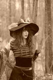 Heks in hout Royalty-vrije Stock Fotografie