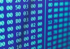 Heksadecymalny programa kodu scrolling Obraz Stock