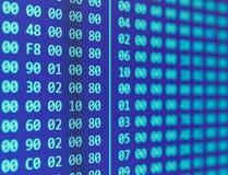 Heksadecymalny programa kodu scrolling Zdjęcia Stock