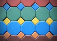 Heksagonalna ceglana posadzkowa tło tekstura Fotografia Stock