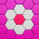 Heksagonalna ceglana posadzkowa tło tekstura Zdjęcia Stock