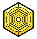 Heksagonalna element ilustracja royalty ilustracja