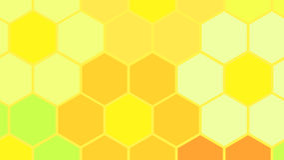Heksagonalna kwiat komórka Zdjęcia Royalty Free