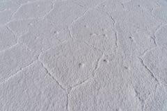 Heksagonalni wzory biel sól zdjęcia royalty free