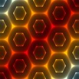 heksagonalny abstrakcjonistyczny tło Zdjęcie Stock