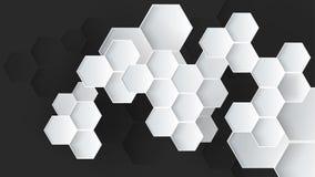 Heksagonalny abstrakcjonistyczny wektorowy tło ilustracja wektor