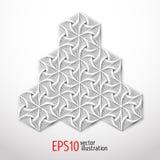 Heksagonalny 3d projekt robić w papieru stylu Sakralnej geometrii tajemnicy enigmatyczny kształt Abstrakcjonistyczny wektorowy sz ilustracja wektor