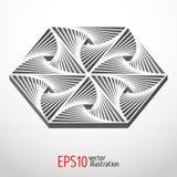 Heksagonalny 3d projekt Sakralny geometrii tajemnicy kształt ilustracja wektor