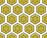 Heksagonalny elementu wzór ilustracji