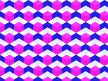 Heksagonalny komórka wzór royalty ilustracja