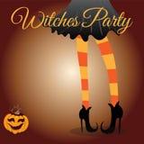 Heksenmeisje - Halloween-achtergrond Royalty-vrije Stock Afbeeldingen