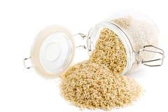 hel ögonblicklig rice för korn arkivfoto