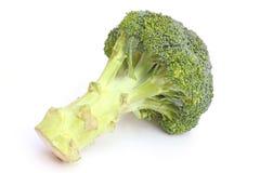 Hel broccoli head på vit Royaltyfria Bilder