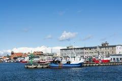 Hel harbor Poland. Hel harbor with moored fishingboats. Puck County, Pomeranian Voivodeship, Poland Stock Photography