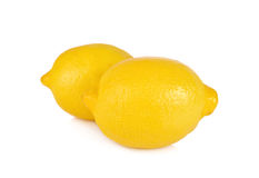 Hel ny citron på vit bakgrund Royaltyfria Bilder