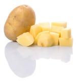 Hel och huggen av potatis II arkivfoto
