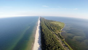 The Hel peninsula, aerial view stock footage