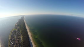 The Hel peninsula, aerial view stock video