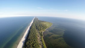 The Hel peninsula, aerial view stock video footage