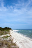 Hel Peninsula and Beach at Baltic Sea in Poland Stock Images