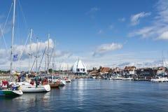 Hel Polonia del puerto deportivo del yate Fotografía de archivo libre de regalías