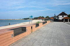 Hel Town Baltic Sea Promenade in Poland Royalty Free Stock Images