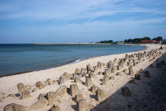 Hel Town Beach at Baltic Sea in Poland Stock Photo