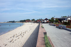 Hel Town Beach and Promenade in Poland Stock Images