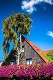 Hel, typical house and tree.  Stock Images