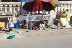 Hel Ville, Madagascar Stock Foto's