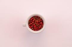 Hela korn för röd spansk peppar Arkivfoto