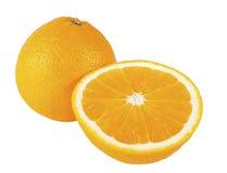 Hela och klippta apelsiner Arkivfoton