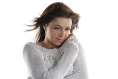 Helada de una mujer fría Fotografía de archivo libre de regalías