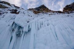 Helada enorme del lago Baikal imagenes de archivo