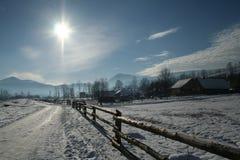 Helada y sol Imagen de archivo libre de regalías