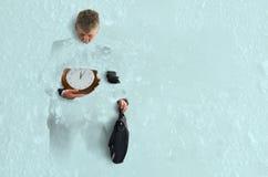 Heladas congelados presión del negocio a tiempo sobre éxito Fotografía de archivo