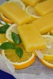Helado anaranjado Imagen de archivo libre de regalías