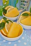 Helado anaranjado Fotografía de archivo