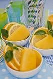 Helado anaranjado Imagenes de archivo