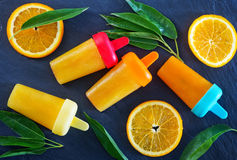 Helado anaranjado hecho en casa Fotografía de archivo