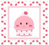 Helado bastante rosado Foto de archivo libre de regalías