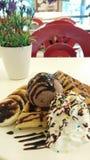helado de chocolate de la galleta Foto de archivo libre de regalías
