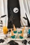 Helado de la bruja de Halloween Imágenes de archivo libres de regalías