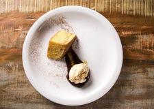 Helado del guisante con la torta de maíz Fotografía de archivo libre de regalías