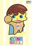Helado del héroe del helado del cono Foto de archivo libre de regalías
