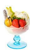 Helado del helado con la fruta Fotografía de archivo libre de regalías