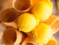 Helado del limón Imagen de archivo