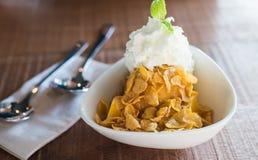 Helado del mango con el cereal imagen de archivo libre de regalías