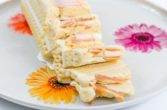 Helado, delicioso, postre, torta del helado, dulces, caramelo fotografía de archivo libre de regalías
