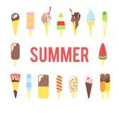 Helado en el verano Imagen de archivo